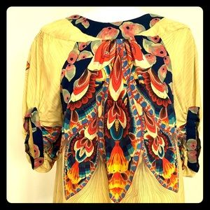 Anna Sui for Anthropologie yellow floral blouse